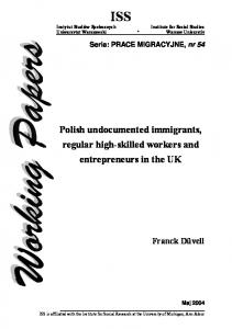 Polish undocumented immigrants, regular high-skilled workers and ...