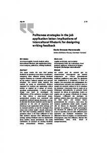 Politeness strategies in the job application letter