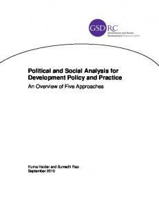 Political and Social Analysis for Development Policy and ... - GSDRC