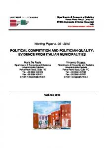 political competition and politician quality: evidence ...