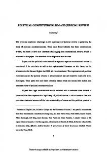political constitutionalism and judicial review - SSRN papers
