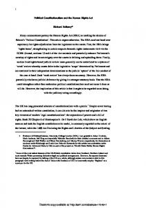 Political Constitutionalism and the Human Rights ActRev2Final - SSRN