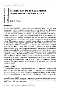 Political Culture and Democratic Governance in ... - Semantic Scholar