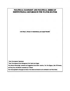 political economy and political risks of institutional reforms ... - CiteSeerX