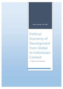 Political Economy of Development from Global to