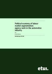 Political economy of labour market segmentation - European Trade ...