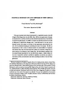 POLITICAL ECONOMY OF LAND REFORMS IN WEST ... | CiteSeerX