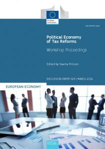 Political Economy of Tax Reforms - Workshop ... - European Commission