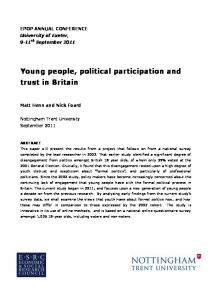 Political Engagement - University of Exeter