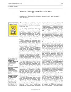 Political ideology and tobacco control