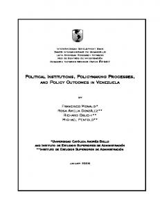 Political Institutions, Policymaking Processes and ...