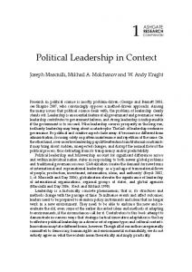Political Leadership in Context