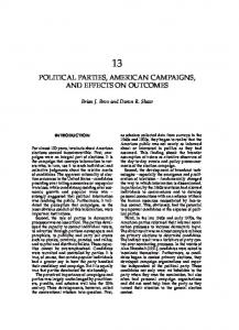 political parties, american campaigns, and ... - Tulane University