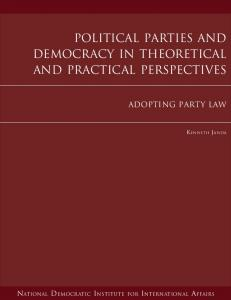 Political Parties and Democracy in Theoretical and Practical ... - EODS
