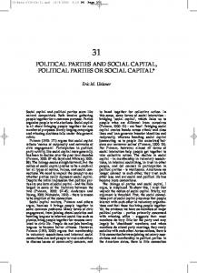 political parties and social capital, political parties or social capital