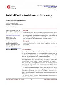 Political Parties, Coalitions and Democracy