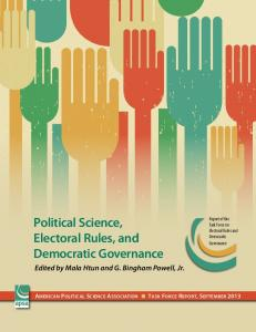 Political Science, Electoral Rules, and Democratic Governance