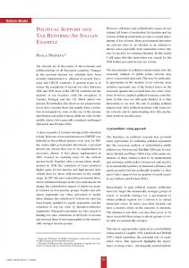 Political Support and Tax Reforms: An Italian ... - CESifo Group Munich