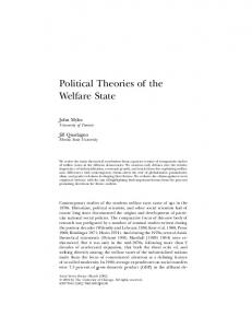 Political Theories of the Welfare State - CiteSeerX