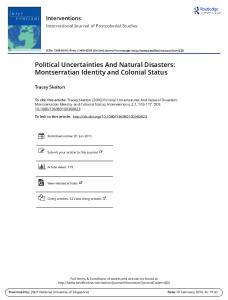 Political Uncertainties And Natural Disasters ...