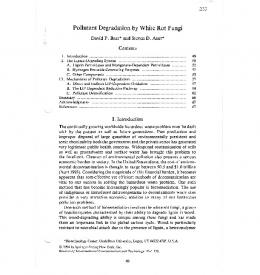 Pollutant Degradation by White Rot Fungi