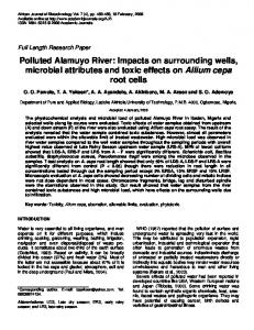 Polluted Alamuyo River - African Journals Online