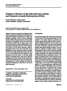Pollution of Flooded Arable Soils with Heavy Metals ...
