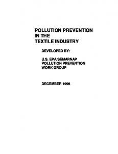 pollution prevention in the textile industry