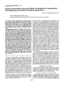 Polyadenylated RNA Sequences Which Are Reduced in ...