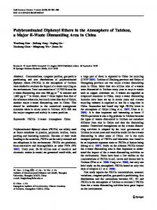 Polybrominated Diphenyl Ethers in the Atmosphere of ... - Springer Link