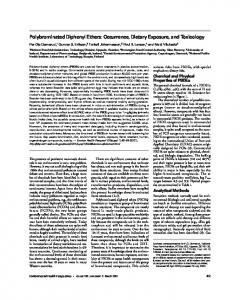 Polybrominated Diphenyl Ethers: Occurrence, Dietary ...