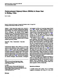 Polybrominated Diphenyl Ethers (PBDEs) in House ... - Springer Link