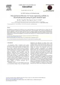 Polycaprolactone/Pluronic F127 Tissue Engineering ... - Science Direct