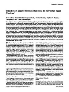 Polycation-Based Vaccines Induction of Specific Immune Responses by