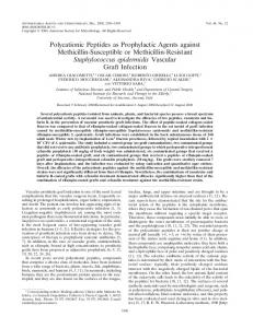 Polycationic Peptides as Prophylactic Agents against Methicillin ...