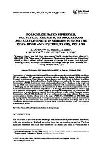 polychlorinated biphenyls, polycyclic aromatic hydrocarbons and ...