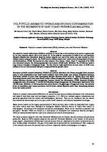 polycyclic aromatic hydrocarbon (pah) contamination in ... - UKM