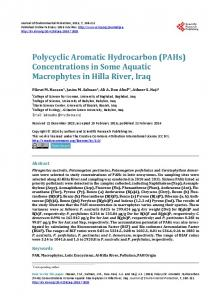 Polycyclic Aromatic Hydrocarbon (PAHs) - Scientific Research ...