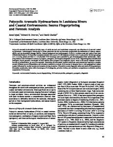 Polycyclic Aromatic Hydrocarbons in Louisiana Rivers and Coastal ...