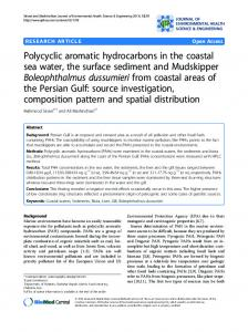 Polycyclic aromatic hydrocarbons in the coastal sea ... - Springer Link