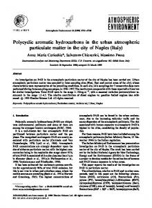 Polycyclic aromatic hydrocarbons in the urban ... - ScienceDirect