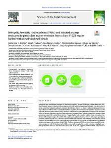 Polycyclic Aromatic Hydrocarbons (PAHs) and