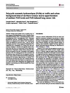 Polycyclic aromatic hydrocarbons (PAHs)