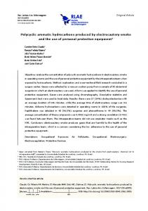 Polycyclic aromatic hydrocarbons produced by ... - Scielo.br