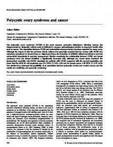 Polycystic ovary syndrome and cancer