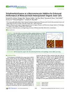 Polydimethylsiloxane as a Macromolecular ... - ACS Publications