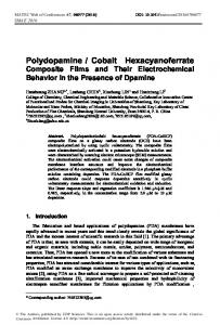 Polydopamine / Cobalt Hexacyanoferrate Composite Films and Their ...