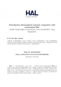 Polyethylene thermoplastic polymer composites with