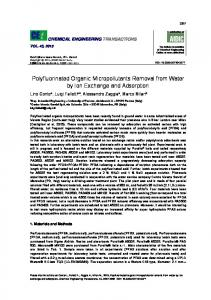 Polyfluorinated Organic Micropollutants Removal from Water by ... - aidic