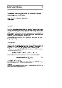Polyhedral results on the stable set problem in graphs ...